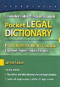 Spanish/English-English/Spanish Pocket Legal Dictionary