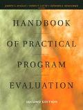 HANDBOOK OF PRACTICAL PROGRAM EVALUATION