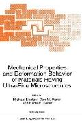 Mechanical Properties and Deformation Behavior of Materials Having Ultra-Fine Microstructure...