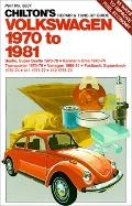 Chilton's Repair and Tune up Guide, Volkswagen 1970 to 1981 - Chilton Book Company. - Paperback