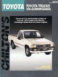 Chilton's Toyota Pick-Ups/Land Cruiser/4Runner 1970-88 Repair Manual