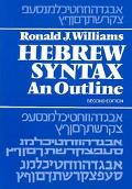 Hebrew Syntax an Outline