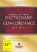 Super Giant Print Dictionary And Concordance Of The Holy Bible Holman Christian Standard Bib...
