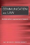 Communication And Law Multidisciplinary Approaches to Research