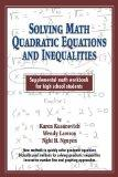 Solving Math Quadratic Equations And Inequalities