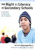 The Right to Literacy in Secondary Schools: : Creating a Culture of Thinking