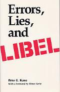 Errors, Lies, and Libel