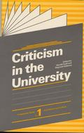 Criticism In The University