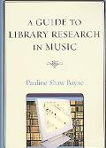 Guide to Library Research in Music