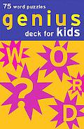 Genius Deck for Kids 75 Word Puzzles
