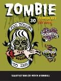 Zombie Temporary Tattoos : 30 Temporary Tattoos