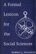 Formal Lexicon for the Social Sciences