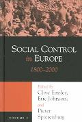 Social Control In Europe 1800-2000