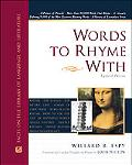 Words to Rhyme With For Poets and Song Writers  Including a Primer of Prosody, a List of Mor...