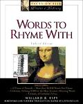 Words to Rhyme With For Poets and Song Writers