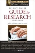 Facts on File Guide to Research : Finding Information in Print and Online
