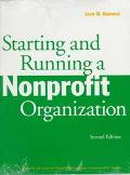 Starting and Running a Nonprofit Organization