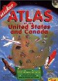 Sticker Atlas of the United States and Canada - John Wright - Paperback
