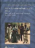 Higher Education in Francophone Africa