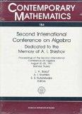 Second International Conference on Algebra Dedicated to the Memory of A.I. Shirshov  Proceed...