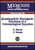 Quasianalytic Monogenic Solutions of a Cohomological Equation