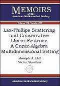 Lax-phillips Scattering And Conservative Linear Systems A Cuntz-algebra Multidimensional Setting