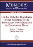 Holder-Sobolev Regularity of the Solution to the Stochastic Wave Equation in Dimension Three (Memoirs of the American Mathematical Society)