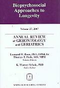 Annual Review of Gerontology and Geriatrics, Volume 27