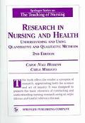 Research In Nursing And Health Understanding And Using Quantitative And Qualitative Methods