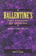 Ballentine's Legal Dictionary and Thesaurus
