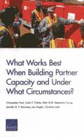 What Works Best When Building Partner Capacity and Under What Circumstances?
