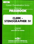 Clerk Stenographer IV
