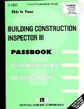 Building Construction Inspector III