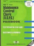 Maintenance Control Clerk: U. S. P. S.: Test Preparation Study Guide, Questions and Answers