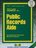 Public Records Aide (Career Examination Passbooks)