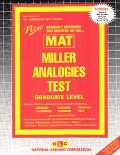 New Rudman's Questions and Answers on The...Mat Miller Analogies Test Graduate Level
