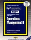 OPERATIONS MANAGEMENT II (Regents External Degree Program Series) (Passbooks) (Regents Exter...