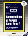Commonalities Nursing Care Area A