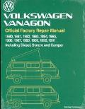 Volkswagen Vanagon Official Factory Repair Manual 1980-1991 Including Diesel Syncro and Camper