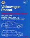 Volkswagen Passat Official Factory Repair Manual 1995, 1996, 1997  Gasoline, Turbo Diesel, T...