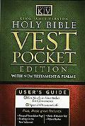 King James Vest Pocket Edition Black Leatherflex, Gilded-Gold Page Edges