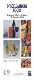 Miscellaneous Foods: The Composition of Foods - W. Chan - Paperback