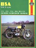 Bsa Singles Owners Workshop Manual 247-499 58-72