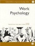 Handbook of Work and Organizational Psychology Work Psychology