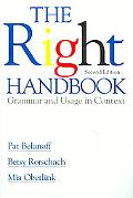 Right Handbook Grammar and Usage in Context