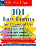101 Law Forms for Personal Use - Robin Leonard - Paperback - BK&DISK