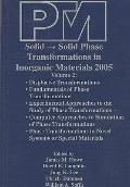 Proceedings of an International Conference on Solid - Solid Phase Transformations in Inorgan...