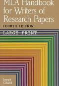 MLA Handbook for Writers of Research Papers - Joseph Gibaldi - Paperback - 4TH