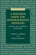 Research Guide for Undergraduate Students English and American Literature