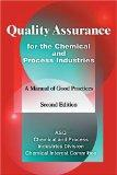 Quality Assurance for the Chemical and Process Industries A Manual of Good Practices